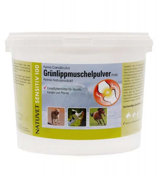 Grünlippmuschelpulver, 1,5kg, für Hunde, Katzen und Pferde