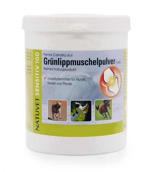 Grünlippmuschelpulver, 750g, für Hunde, Katzen und Pferde