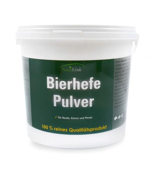 Bierhefe Pulver 1000g, reich an Vitamin B, gut für Fell und Haut