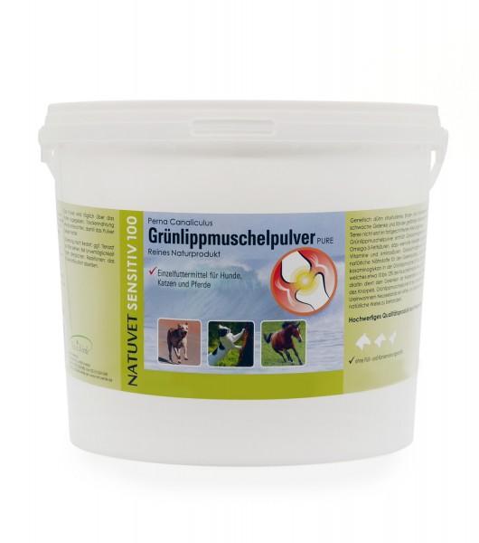 Grünlippmuschelpulver, 2,5kg, für Hunde, Katzen und Pferde