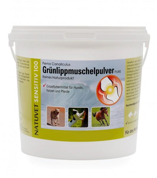 Grünlippmuschelpulver, 1kg, für Hunde, Katzen und Pferde